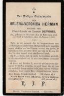 Wervik, Wervicq, Geluwe, Gheluwe, 1813, Helena Herman, Devogel - Imágenes Religiosas