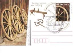 M POLAND - Postcard - 2011.04.29. Cp 1574 Declining Crafts - Wheelwright - Enteros Postales
