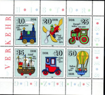 DDR  KLB  2566 - 71  Spielzeug **  Mit Roten Farbflecken Auf 2568 - DDR