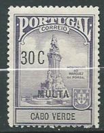 Cap Vert  - Taxe     Yvert N°  33 *  ( Legeres Rousseurs Sur La Gomme )      Aab 23811 - Cape Verde