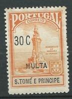 Saint Thomas Et Prince   - Taxe     Yvert N°  53 *  ( Legeres Rousseurs Sur La Gomme )      Aab 23813 - St. Thomas & Prince