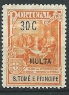 Saint Thomas Et Prince - Taxe       Yvert N°  53 *  ( Legeres Rousseurs Sur La Gomme )      Aab 23819 - St. Thomas & Prince