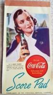 Carnet WW2 U.S. Army Coca-Cola Contract Bridge Score Pad Nurse 1940 - Coca-Cola