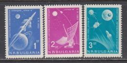 "Bulgaria 1963 - Space: ""Luna 4"", Mi-Nr. 1388/90, MNH** - Bulgaria"