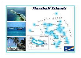 Marshall Islands Map New Postcard Marshallinseln Landkarte AK - Marshall