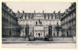 X14080 CAEN Calvados GENDARMERIE Façade Grilles CPA écrite 09.08.1916 - L.D Normandie - Caen