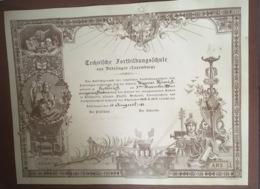Dudelange 1913 Technische Fortbildungschule - Cartes Postales