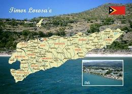 East Timor Country Map New Postcard Osttimor Landkarte AK - Timor Oriental