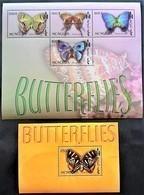# Mongolia 2003**Mi.3481-85 Butterfiles , MNH [17II;15] - Schmetterlinge