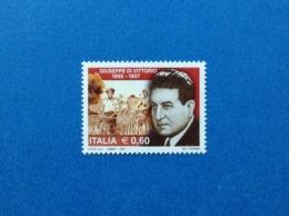 2007 ITALIA GIUSEPPE DI VITTORIO FRANCOBOLLO NUOVO STAMP NEW MNH** - 1946-.. République