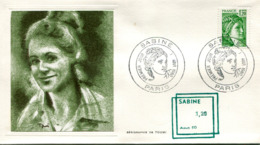 France-FDC-1980-yt 2101- Sabine -serigraphie De Toumi - Enveloppe - FDC