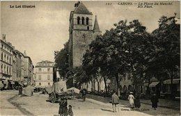 CPA Le Lot Illustre - CAHORS - La Place Du Marche (223576) - Cahors