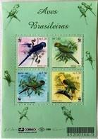 # Brasil 2001**Mi.3150-53 Parrots , WWF, MNH [26;63] - Papagayos