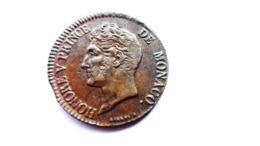 MONACO 5 Centimes 1837 Honore V (1819-1841) - 1505-1795 De Lucien Ier à Honoré III.