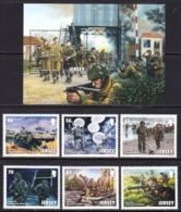 2014 Jersey World War II D-Day Military   Complete Set Of 6 + Souvenir Sheet MNH  @ 70% FACE VALUE - Jersey
