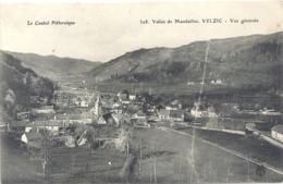 328. VALLEE DE MANDAILLES . VELZIC . VUE GENERALE . CARTE ECRITE AU VERSO LE 14 JUILLET 1917 - Autres Communes
