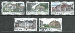 Danemark YT N°1358/1362 Maisons Danoises Oblitéré ° - Danemark