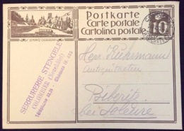 "Schweiz Suisse 1930: Bild-PK / CPI ""ST.MORITZ - CASTASEGNA"" Mit O COLOMBIER 24.IV.30 Nach Biberist (SO) - Busses"