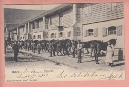 OUDE KAART ZWITSERLAND - SCHWEIZ - SUISSE -    BIERRE - PANSAGE  1903 - VD Vaud