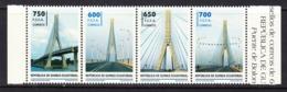 2014 Equatorial Ecuatorial Guinea Bridges Ponts Complete Strip Of 4 MNH - Äquatorial-Guinea