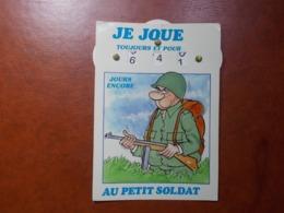 Carte Postale  - Militaire à Système - Calendrier De La Classe - La Quille (3617) - Humoristiques