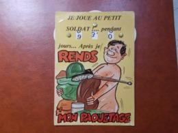 Carte Postale  - Militaire à Système - Calendrier De La Classe - La Quille (3618) - Humour