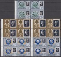 Russia, USSR 15.02.1990 Mi # 6066. 6067-68 I, II IN BLOCKS OF 4, 150th Anniversary Of Postage Stamp MNH OG - Nuovi