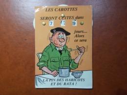 Carte Postale  - Militaire à Système - Calendrier De La Classe - La Quille (3619) - Humoristiques