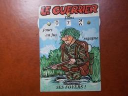 Carte Postale  - Militaire à Système - Calendrier De La Classe - La Quille (3620) - Humour
