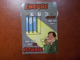 Carte Postale  - Militaire à Système - Calendrier De La Classe - La Quille (3621) - Humour