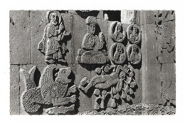 TURQUIE / LAC DE VAN - BAS RELIEF DE LA BASILIQUE ARMENIENNE D'ALTHAMAR SITUEE SUR UN ILOT DESERTIQUE DU LAC DE VAN - Turquie
