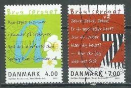 Danemark YT N°1278/1279 Année Européenne Des Langues Oblitéré ° - Danemark