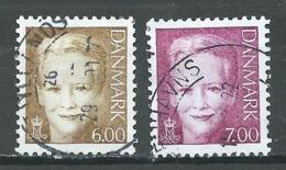 Danemark YT N°1282/1283 Reine Margrethe II Oblitéré ° - Danemark