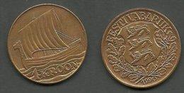 ESTLAND Estonia 1990 - 1 Kroon Coin Wiking Ship - Estland