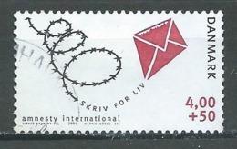 Danemark YT N°1273 Amnesty International Oblitéré ° - Danemark