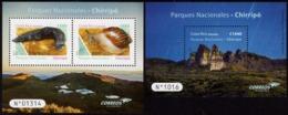 Costa Rica - 2019 - National Parks - Chirripo - Set Of 2 Mint Souvenir Sheets - Costa Rica