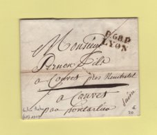 Lyon - 68 - Rhone - Port Paye - 1819 - Facture Illustree - 1801-1848: Précurseurs XIX
