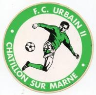 AUTOCOLLANT F.C. URBAIN II  CHATILLON  SUR MARNE  FOOT - Pegatinas
