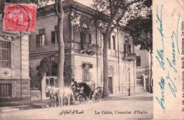 .CPA EGYPTE LE CAIRE Consulat D'ITALIE - Le Caire
