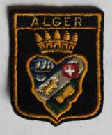 écusson Brodé Ancien Algérie Alger Blason Armoiries - Blazoenen (textiel)