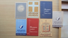 7 TESSERE DI AZIONE CATTOLICA MOVIMENTO LAUREATI ITALIANI MUGGIA TRIESTE - Old Paper