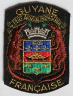 Grand écusson Brodé Ancien Guyane Française Armoiries Blason - Patches
