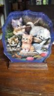 The Bradford Exchange, Purr-fect Reflections By Jurgen Scholz, Crystal Kittens, 2002 - Art Populaire