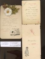 Menu Pour Certainement Le Grand Repas De L'année 1898 1899 Et 1900. Belle Calligraphie.   Bon Appétit. - Menus