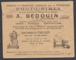 TB Enveloppe Illustrée C.1900 Photo Nimes A. Bédouin - Pathé Baby Cinéma Lanterne Magique - France