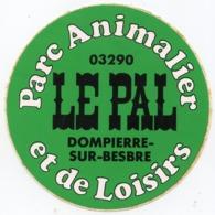 AUTOCOLLANT LE PAL  PARC ANIMALIER ET DE LOISIRS  DOMPIERRE SUR BESBRE - Stickers