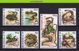Nff073 FAUNA REPTIELEN SLANGEN REPTILES SNAKE SCHLANGEN GIBRALTAR 2001 PF/MNH - Schlangen