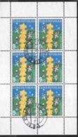 REPUBBLICA CECA - 2000 - EUROPA -  FOGLIETTO DI SEI VALORI USATO ( YVERT 239 - MICHEL 258) - 2000