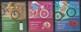 ISRAEL, 2019, MNH, CYCLING IN ISRAEL, 3v+TABS - Cycling