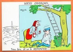 VERTES CAMPAGNES  TIENS BOIS.....    1971 Alexandre Carte Vierge N° 48296 - Humour